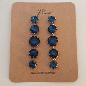 New jcrew ultramarine crystal drop earrings